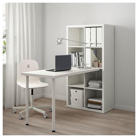 kallax bureau kallax combinaison bureau blanc 77x147 cm ikea