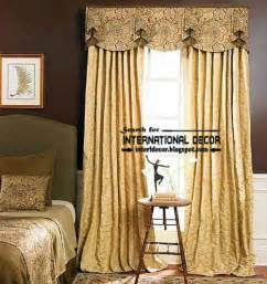 bedroom curtains with valance curtain designs