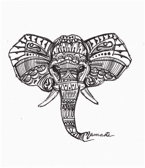 elephant tattoo rude elephant art print soda
