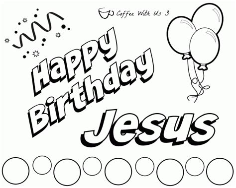 happy birthday jesus coloring page coloring home