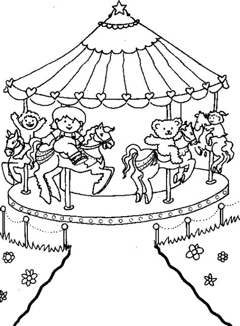 at the fair coloring pages summer vacation children s