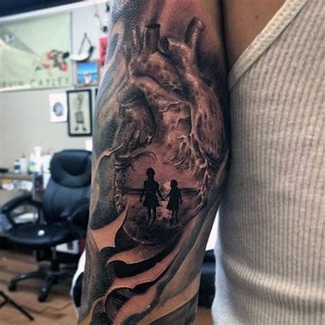 male heart tattoo designs 100 family tattoos for commemorative ink design