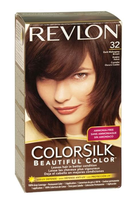 pictures of color silk decadent chocolate hair color revlon colorsilk hair colour 32 dark mahogany brown