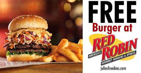 Red Robin Sweepstakes - free burger at red robin on your birthday freebies list freebies by mail free