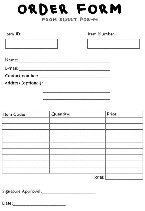 buyers order form fill online printable fillable
