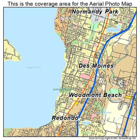 maps des moines aerial photography map of des moines wa washington