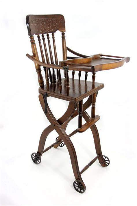 antique high chairs antique oak high chair antique furniture