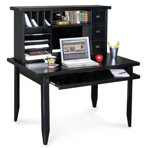 Black Desk Office Custom Small Home Office Desk Design With Drawer File