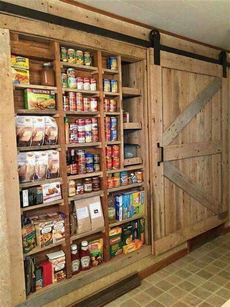 wall pantry  barn door rustic house metal