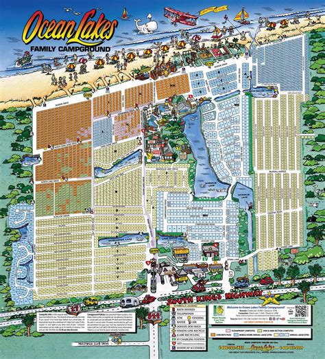 South Carolina House Plans ocean lakes family campground map by ocean lakes family