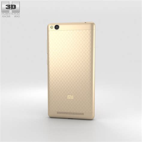 Xiaomi Redmi 3 Gold xiaomi redmi 3 gold 3d model humster3d