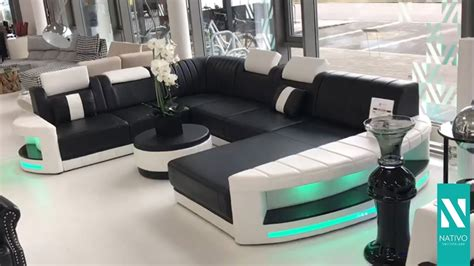 sofa mit led beleuchtung nativo m 246 bel schweiz designer sofa atlantis mit led