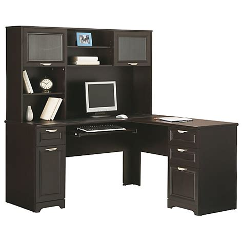 Desks At Office Depot Realspace Magellan Collection L Shaped Desk Matching Hutch Various Colors 169 98 Free