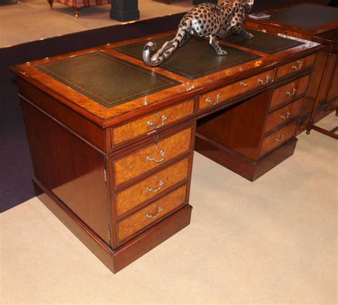 Office Desk Walnut Regency Desk Walnut Pedestal Desks Office Furniture