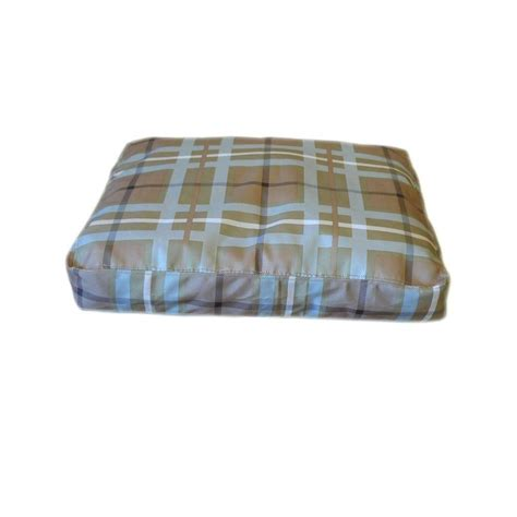 plaid dog bed small brutus tuff blue brown plaid saddle stitch