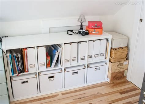 Kallax Filing Cabinet Attic Craft Room Reveal Ikea Kallax Ikea Kallax Shelf And Kallax Shelf