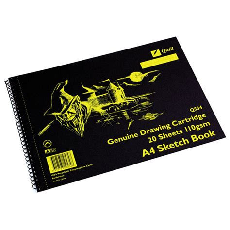 quill a4 sketchbook zqu10534 quill sketch book q534 a4 perforated 20 sheets