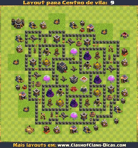 layout de cv 9 layouts para cv9 em clash of clans atualizados clash