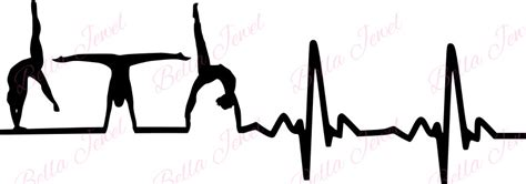 heartbeat dance tattoo gymnastic svg heartbeat svg my heart beats for gymnastics