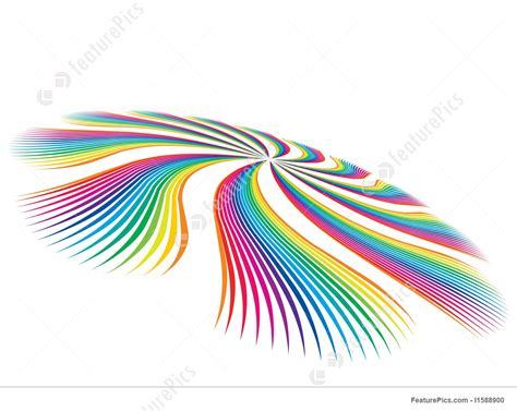 waves of color abstract patterns vector colour waves stock