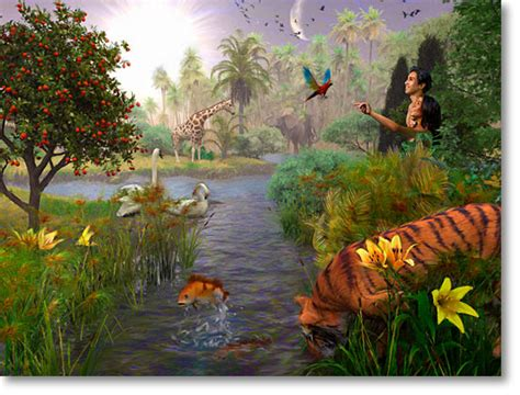 adam and eve in the garden of eden pictures images