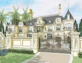 French Country House Plans One Story renderings of a french chateau in nigeria by d alessio