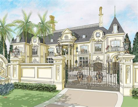 Mansions Floor Plans by Renderings Of A French Chateau In Nigeria By D Alessio
