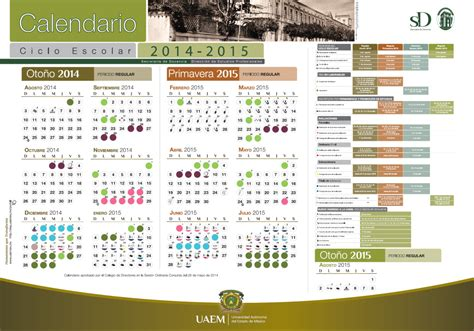 Calendario Escolar Uaemex 2015 Calendarios Escolares Universitarios Calendariolaboral