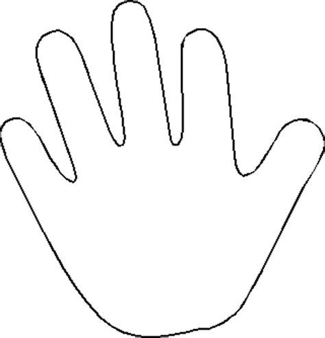 handprint template handprint template clipart best