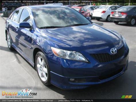 2007 Toyota Camry Se 2007 Toyota Camry Se Blue Ribbon Metallic Charcoal