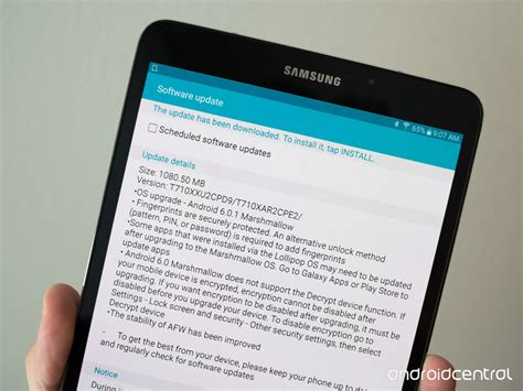 Update Tablet Samsung marshmallow starts rolling out to the samsung galaxy tab s2 android central