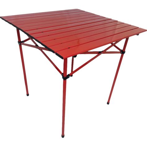 portable dining table string light co portable dining table in red reviews