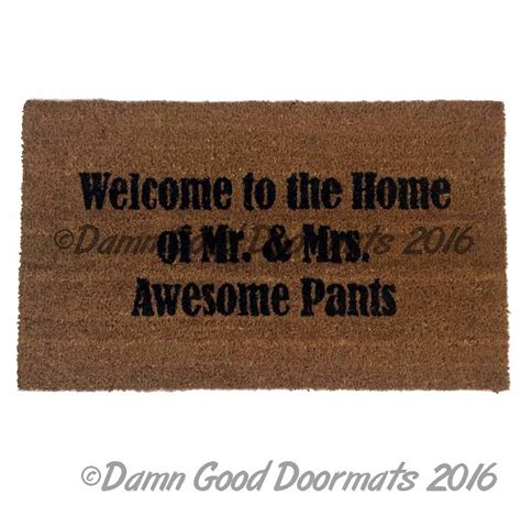 Awesome Doormats by Come In We Re Awesome Cool Sweet Floor Mat Novelty
