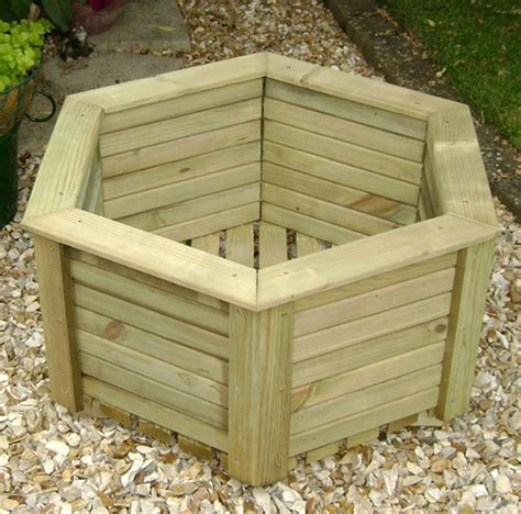Wooden Planters by Wooden Planter Heritage Hexagonal Planter 750 Wide