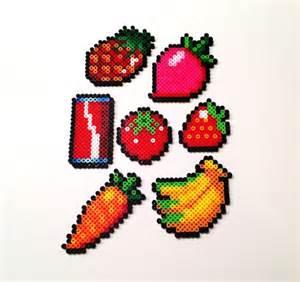 food perler fruits and vegetables perler hama