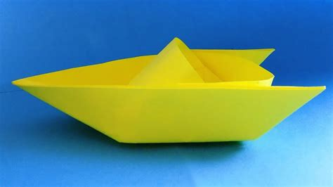 how to make a paper speed boat that floats in water how to make a paper boat that floats origami boat youtube
