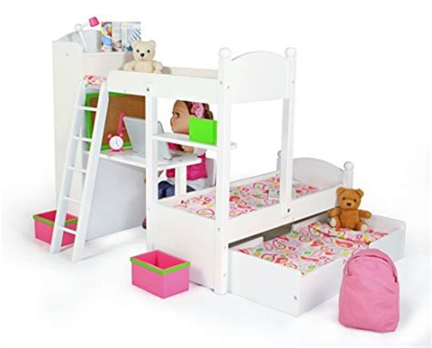 18 Inch Doll Bunk Bed With Trundle Eimmie 18 Inch Doll Bunk Beds W Trundle And Accessories Shop Selling Items