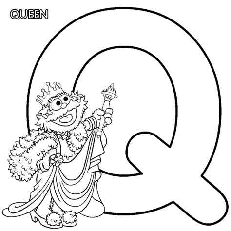 Letter Q Mommy Lounge Sesame Alphabet Coloring Pages