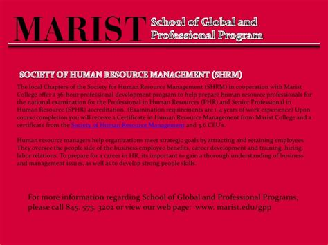 Marist Mba Requirements by Welcome To The School Of Global And Professional Programs
