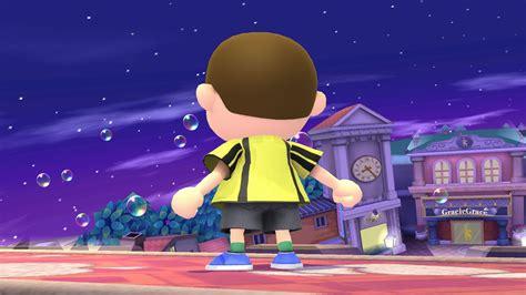 shirt  yellow villager super smash bros wii