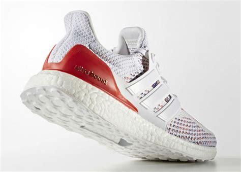 Sepatu Adidas Ultra Boost Rainbow White Multicolor Sneaker New 2017 adidas ultra boost multicolor white sneakerfiles