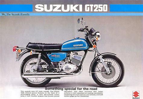 Suzuki Motorrad Geschichte by Prospekteiner Suzuki Gt 250