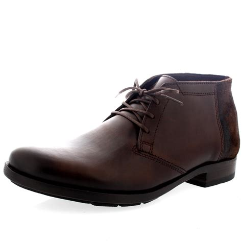 mens laced boots mens fly peet leather smart lace up work office