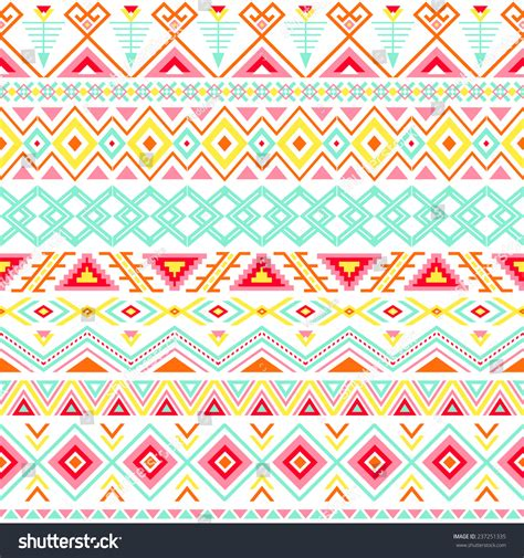 colorful ethnic wallpaper ethnic seamless pattern aztec colorful striped stock