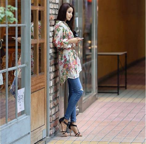 Syall Wanita Motif Bunga 03 atasan wanita motif bunga panjang model terbaru jual