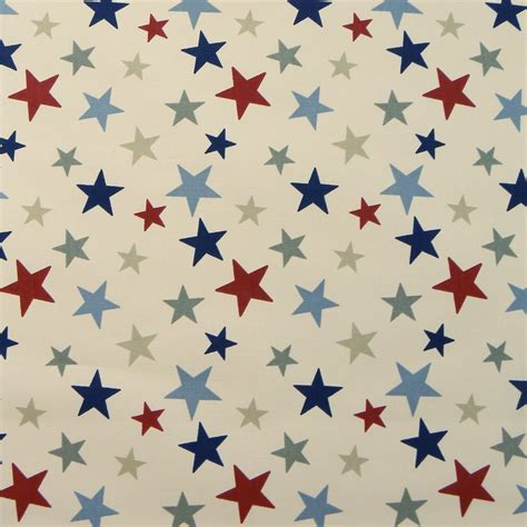 curtain fabric red marson imports funky stars red blue curtain fabric closs