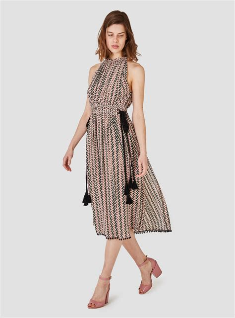 Vsh2008 Dress Stripe Rosa apiece apart la rosa dress small chevron print stripe lyst