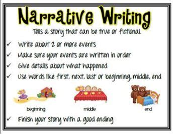 printable narrative poster narrative persuasive and informative writing anchor