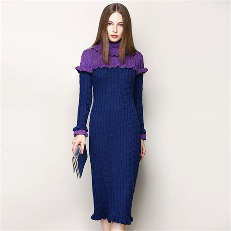 Turtleneck Sweater Dress High Quality buy wholesale turtleneck dress from china