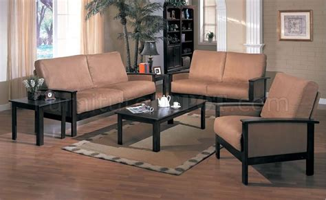 wooden living room set microfiber living room set with wooden frame